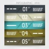 Infographic cinque opzioni oblique nel mezzo Fotografia Stock