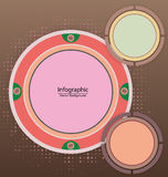 Infographic Circle Background Royalty Free Stock Image