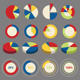 Infographic circle chart elements Stock Photos