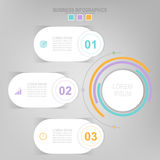 Infographic of circle element, flat design of business icon vector Stock Photo