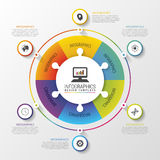 Infographic circle. Modern design template. Colorful concept. Vector illustration Stock Images