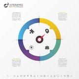 Infographic circle with 4 options. Vector Stock Image