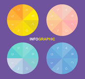 Infographic circle, vector circle with alphabets inside Royalty Free Stock Image