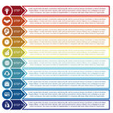 Infographic from circles, arrows and lines, for 10 positions Royalty Free Stock Photography