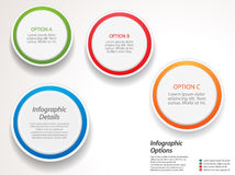 Infographic circles options Royalty Free Stock Photo
