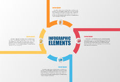 Infographic with circles. Royalty Free Stock Photography