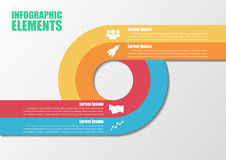 Infographic with circles. Royalty Free Stock Image