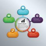 Infographic circolare collegato 5 punti - vettore Fotografia Stock Libera da Diritti