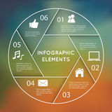 Infographic Circular Chart. Circular Chart Infographic. Template for diagram, graph, presentation and chart Stock Photos