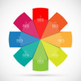Infographic circular template. 8 steps vector background Royalty Free Stock Image