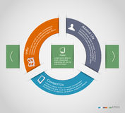 Infographic cirkel Royalty-vrije Stock Afbeeldingen