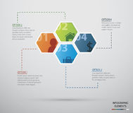 Infographic cirkel Stock Foto