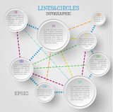 Infographic cirkel Royalty-vrije Stock Foto's