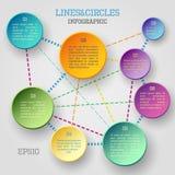 Infographic cirkel Stock Afbeeldingen