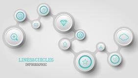 Infographic cirkel Arkivbild