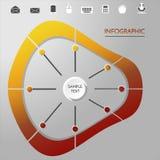 Infographic cirkel med symboler Arkivfoto