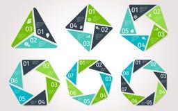 Infographic cirkelpilar Vektormall i polygonal stil royaltyfri illustrationer