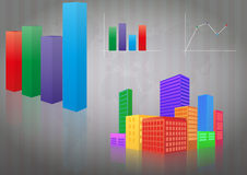 Infographic city Royalty Free Stock Image