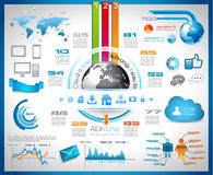 Infographic with Cloud Computing concept Royalty Free Stock Photos
