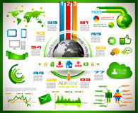 Infographic with Cloud Computing concept Stock Photography
