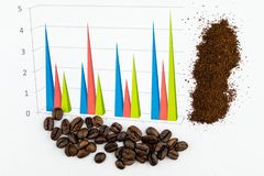 Infographic coffee beans royalty free stock images