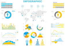 Infographic collection Stock Images