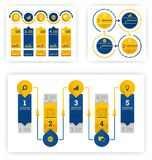 Infographic collection for various purposes from business, accounting and presentation. Vector flat illustration concept, can use. For, landing page, template royalty free illustration