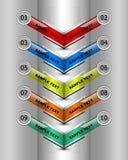 Infographic coloré Images libres de droits