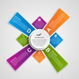 Infographic coloré abstrait de vecteur Éléments de conception Photographie stock
