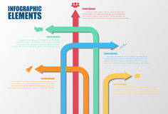 Infographic color arrows Royalty Free Stock Images