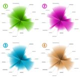 Infographic color diagram templates Stock Image