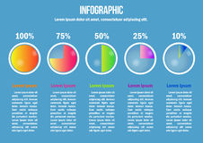 Infographic with color diagrams Royalty Free Stock Images