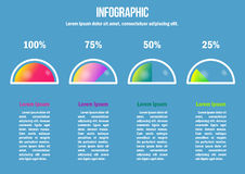 Infographic with color percent diagrams Royalty Free Stock Photography