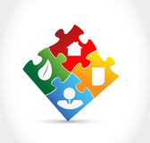 Infographic color puzzle pieces. Illustration design graphic Royalty Free Stock Photography