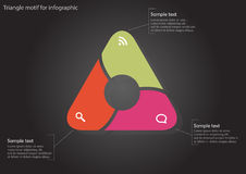 Infographic with color triangle with circle inside Stock Photo