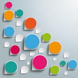 Infographic Colored Abstract Drops One Direction P Royalty Free Stock Images