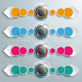 Infographic Colored Buttons Drops Directions Stock Photo