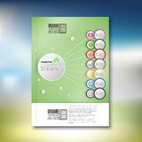 Infographic with colored circles. Brochure, flyer Royalty Free Stock Photos