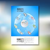 Infographic with colored circles. Brochure, flyer Royalty Free Stock Image