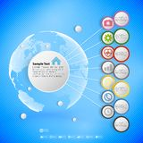 Infographic with colored circles for business Stock Photos