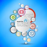 Infographic with colored circles for business Stock Photography
