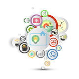 Infographic with colored circles for business Royalty Free Stock Photos