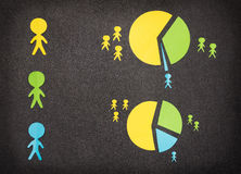 Infographic with colored paper people Stock Photography