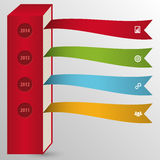Infographic Colorful Flat Timeline Template. Vector Illustration.  Royalty Free Stock Photography