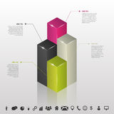 Infographic. Columns of data for business. Vector Stock Photo