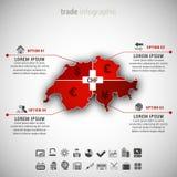 Infographic commercial Image libre de droits