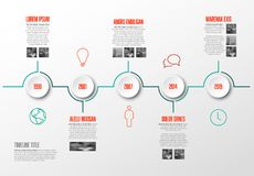Infographic Timeline Template Royalty Free Stock Image