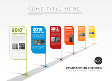 Infographic Company Milestones Timeline Template Royalty Free Stock Photo
