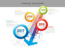 Infographic company milestones timeline vector template Royalty Free Stock Images