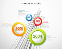 Infographic company milestones timeline vector template Royalty Free Stock Photography